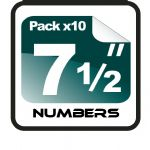 "7.5"" Race Numbers - 10 pack"